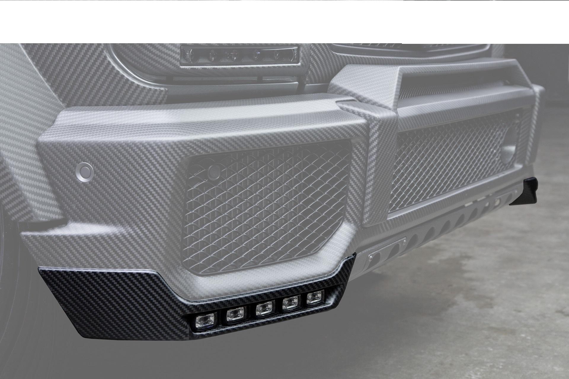 Hodoor Performance Carbon fiber front bumper lip Brabus Style for Mercedes G-class W463