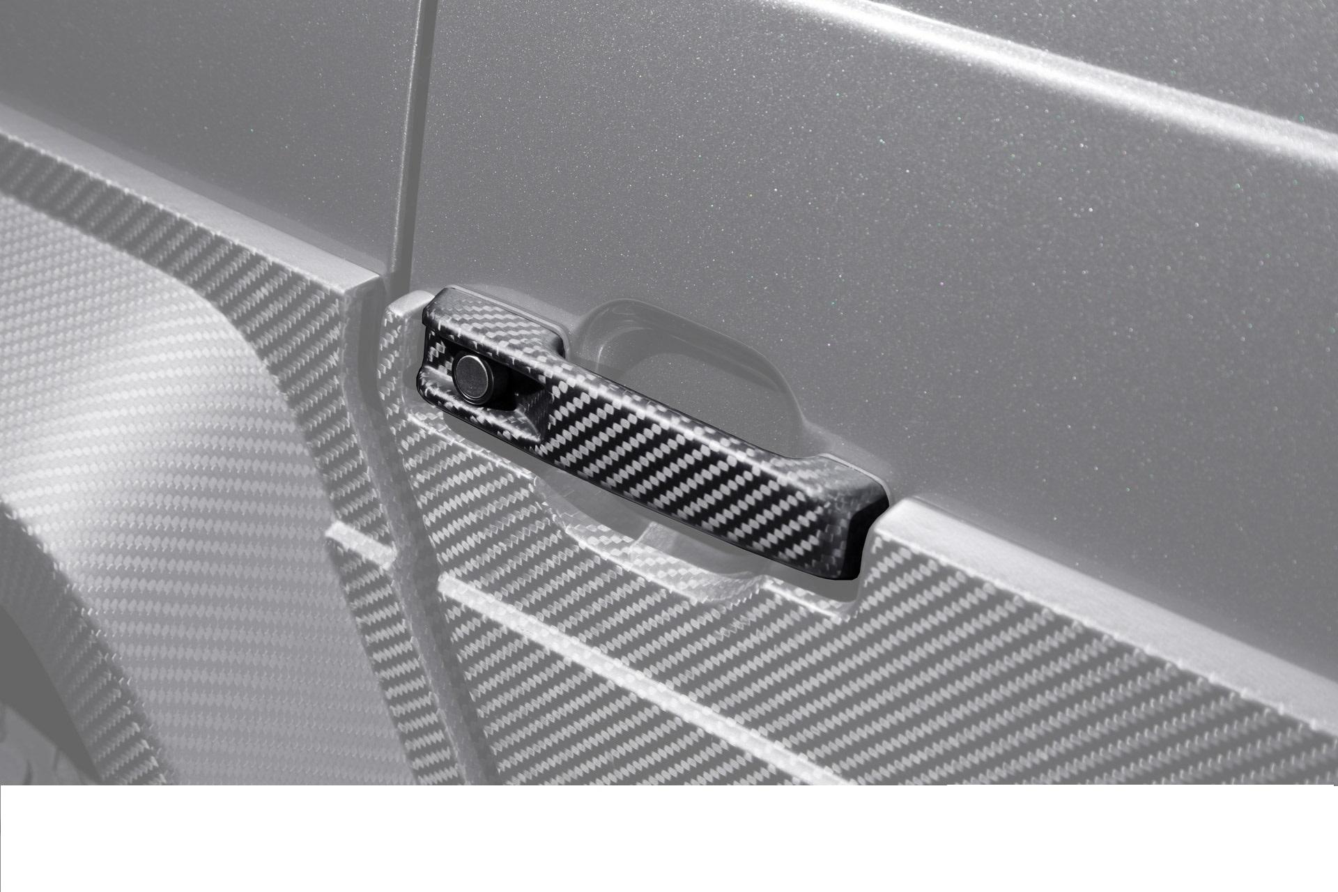 Hodoor Performance Carbon fiber door handle pads upper Brabus Style for Mercedes G-class W463