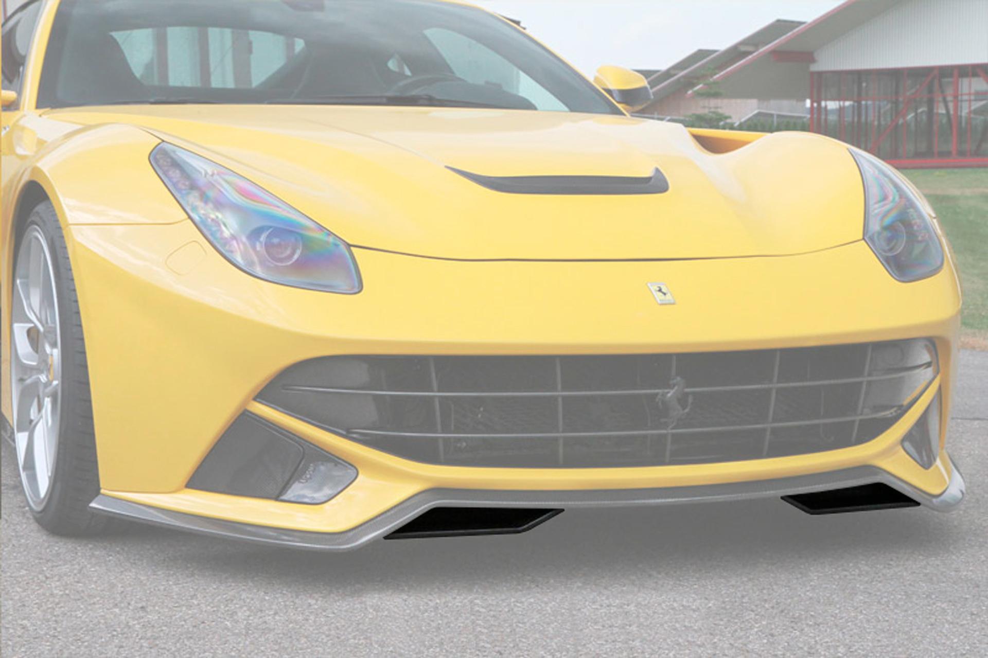 Hodoor Performance Carbon fiber front bumper spoiler pads Novitec Style for Ferrari F12 Berlinetta