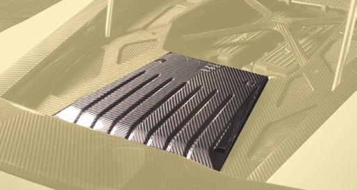 Hodoor Performance Carbon fiber cover of the middle section of the engine Mansory Style for Lamborghini Huracan