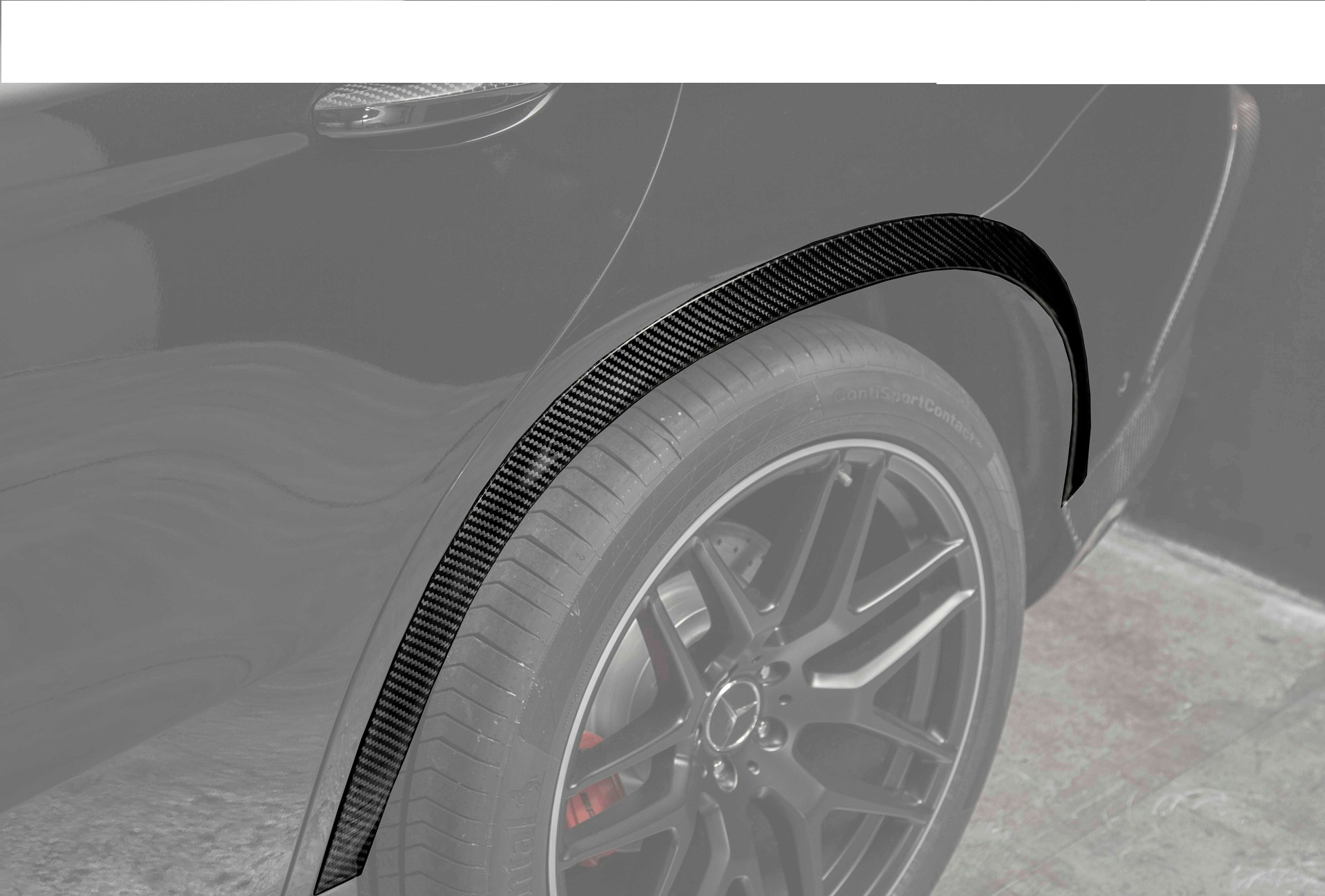 Hodoor Performance Carbon fiber arch pads 63 AMG Style for Mercedes GLE coupe C292