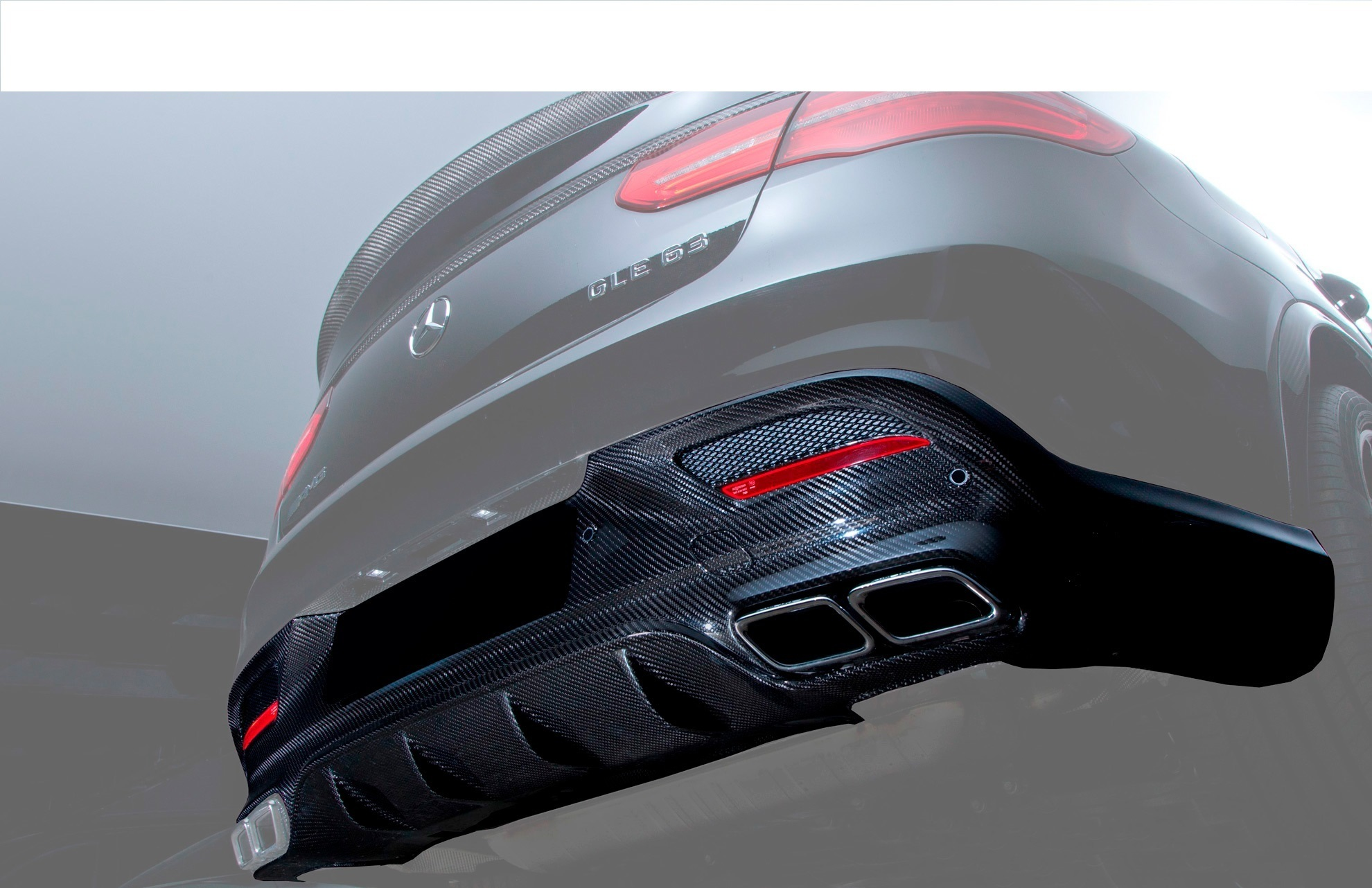 Hodoor Performance Carbon fiber diffuser 63 AMG Style for Mercedes GLE coupe C292