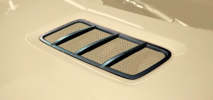 Hodoor Performance Carbon fiber grilles on the hood 63 AMG Brabus Style for Mercedes GLE coupe C292