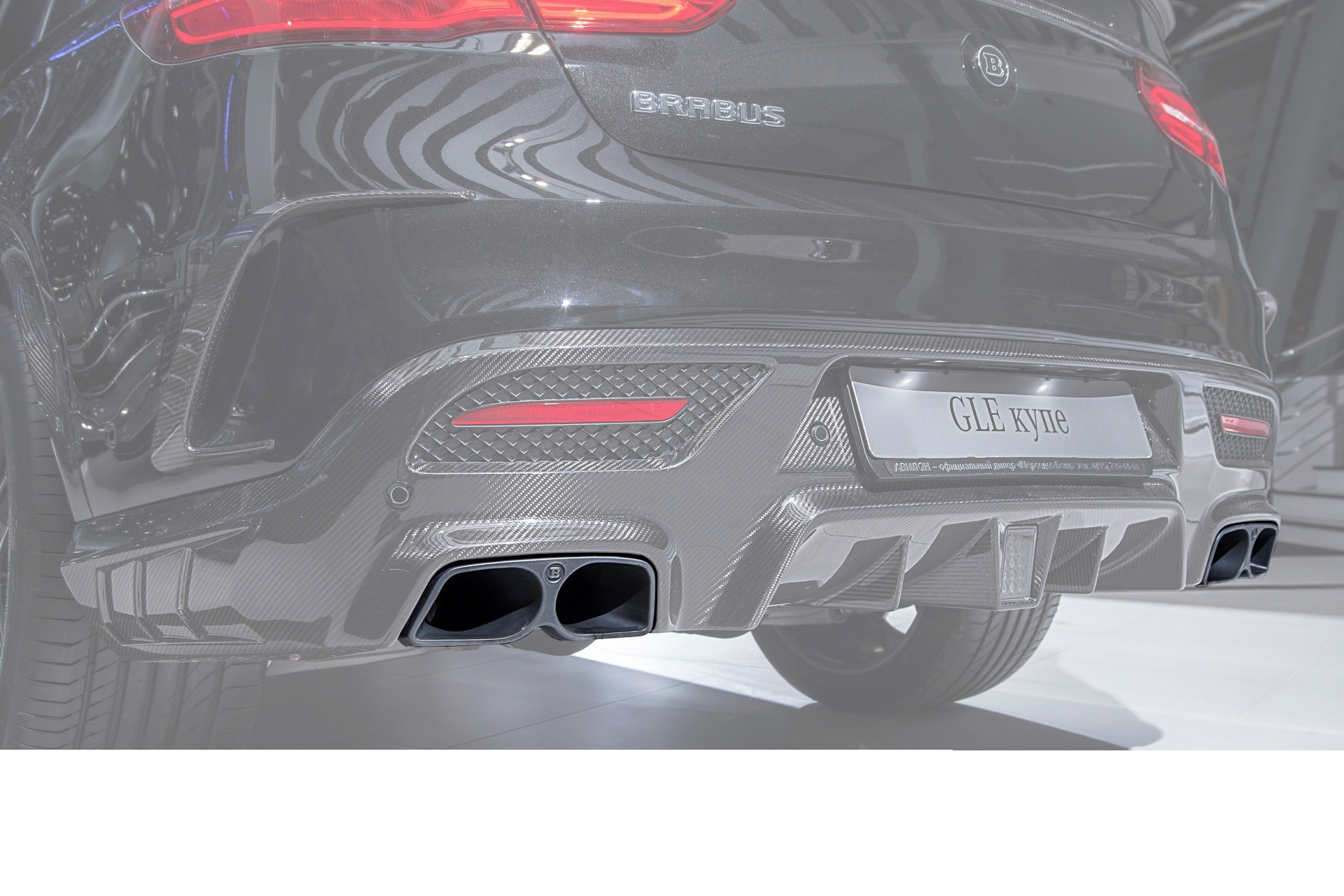Hodoor Performance Carbon fiber nozzles 63 AMG Brabus Style for Mercedes GL coupe With 292