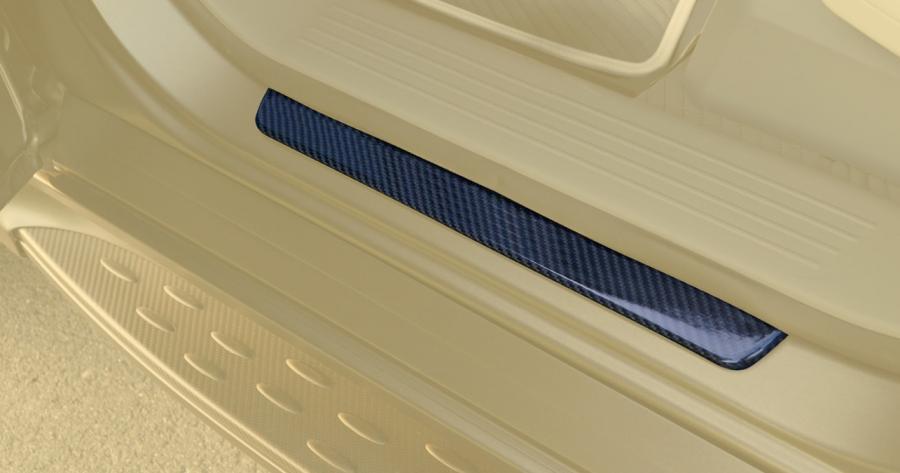 Hodoor Performance Carbon fiber door sills Brabus Widestar Style for Mercedes CLS-class X166