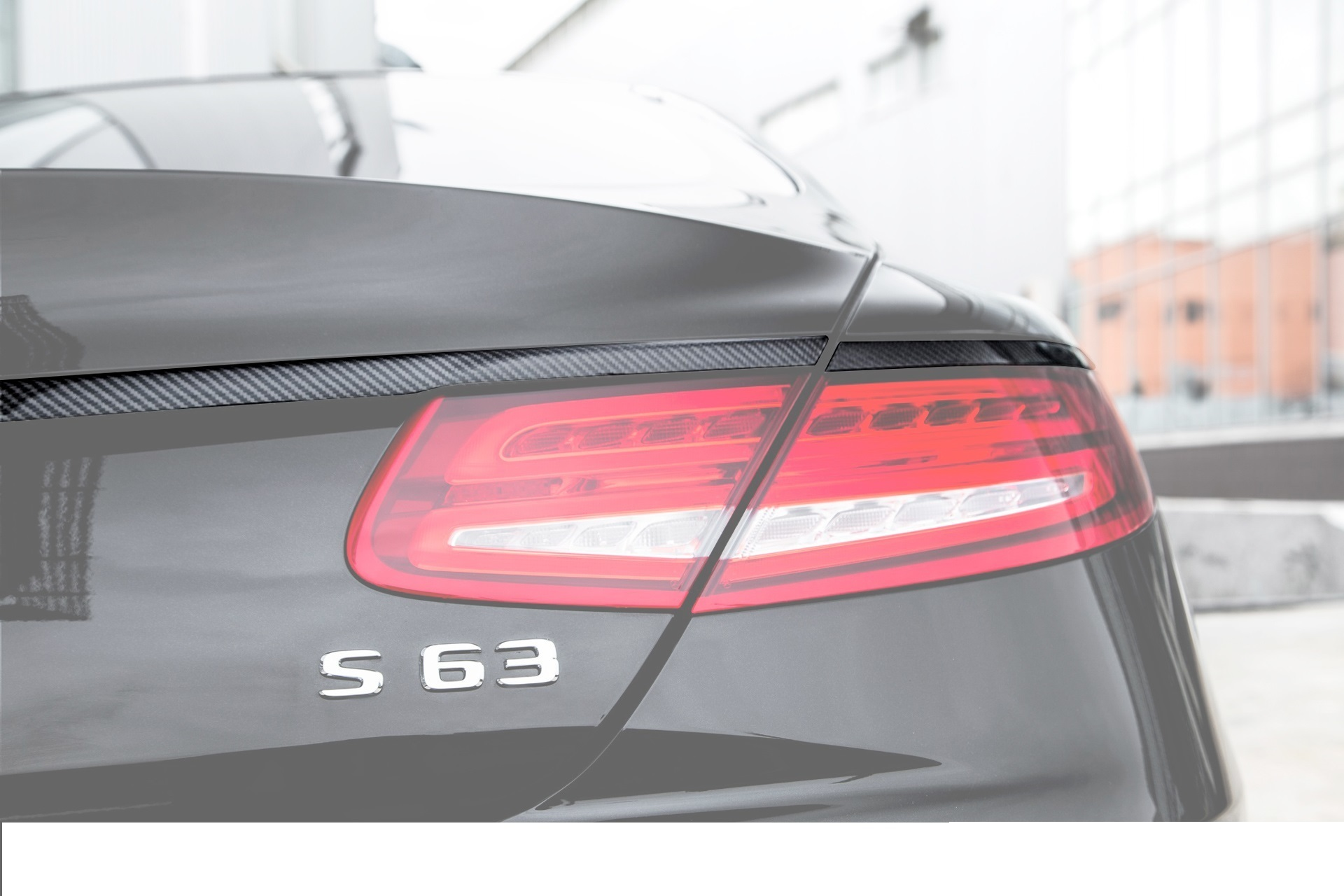 Hodoor Performance Carbon fiber trim over lights 63 AMG Brabus Style for Mercedes S-class coupe C217