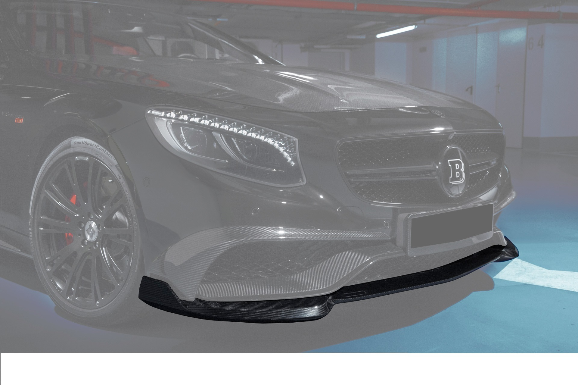 Hodoor Performance Carbon fiber front bumper spoiler 63 AMG Brabus Style (2) for Mercedes S-class coupe C217