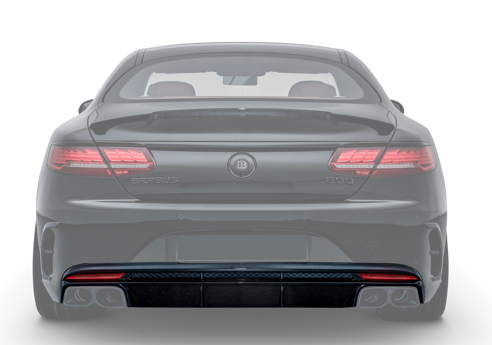 Hodoor Performance Carbon fiber rear bumper diffuser 63 AMG Brabus Style (2) for Mercedes S-class coupe C217 new model