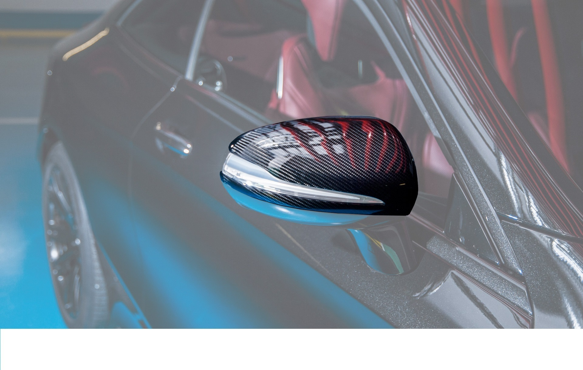 Hodoor Performance Carbon fiber covers for mirrors 63 AMG Style for Mercedes S-class coupe C217