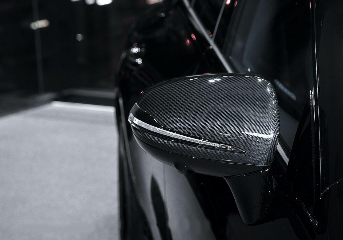 Hodoor Performance Carbon fiber mirror caps for Mercedes A-Class