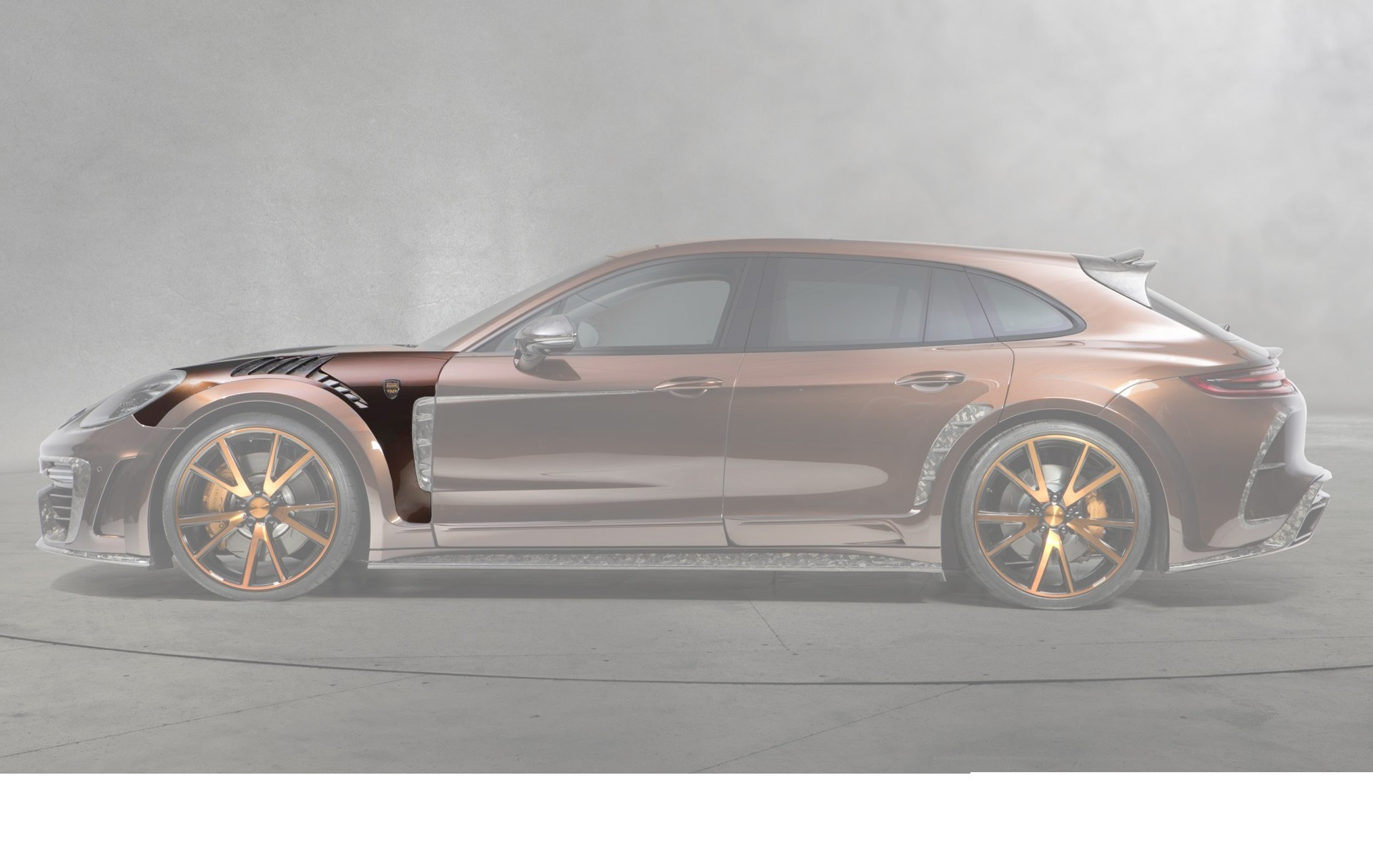Hodoor Performance Carbon fiber front fenders Mansory Style for Porsche Panamera