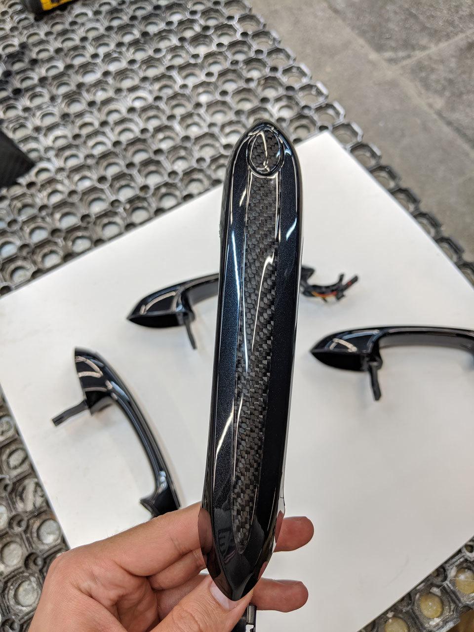 Hodoor Performance Carbon fiber door handles inserts BMW X5 G05