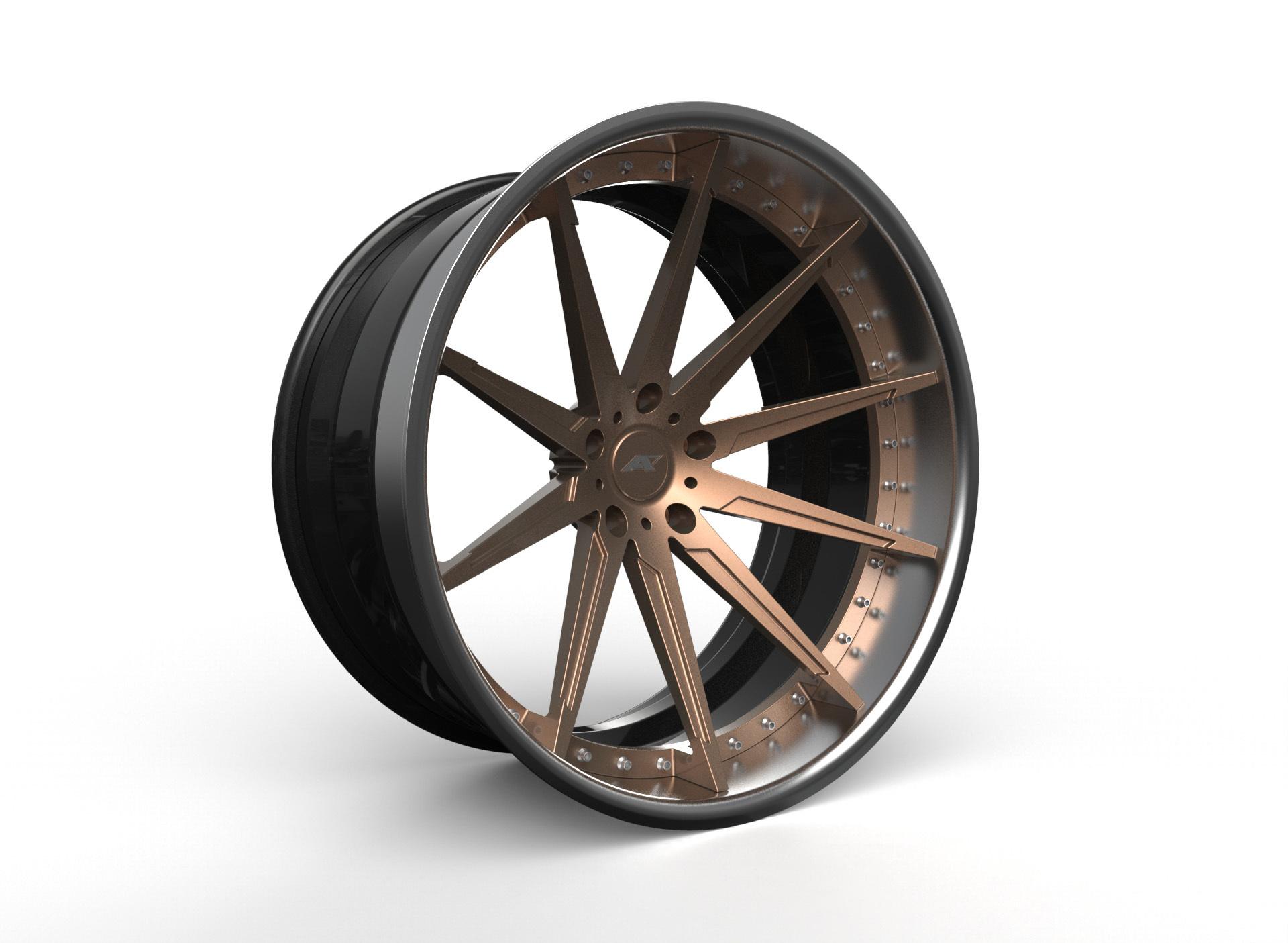 AMP Forged Wheels AMP 10-3P FLAT LIP