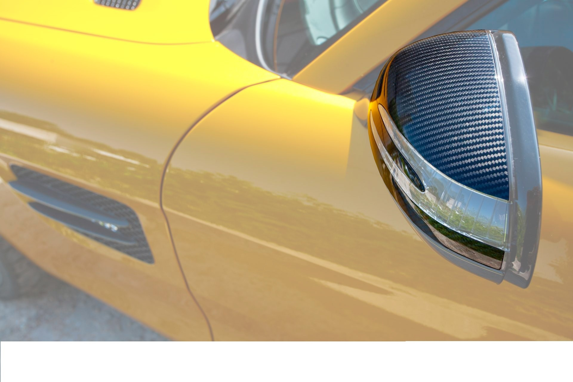 Hodoor Performance Carbon fiber mirror pads Edition 1 Style for Mercedes GT-class C190