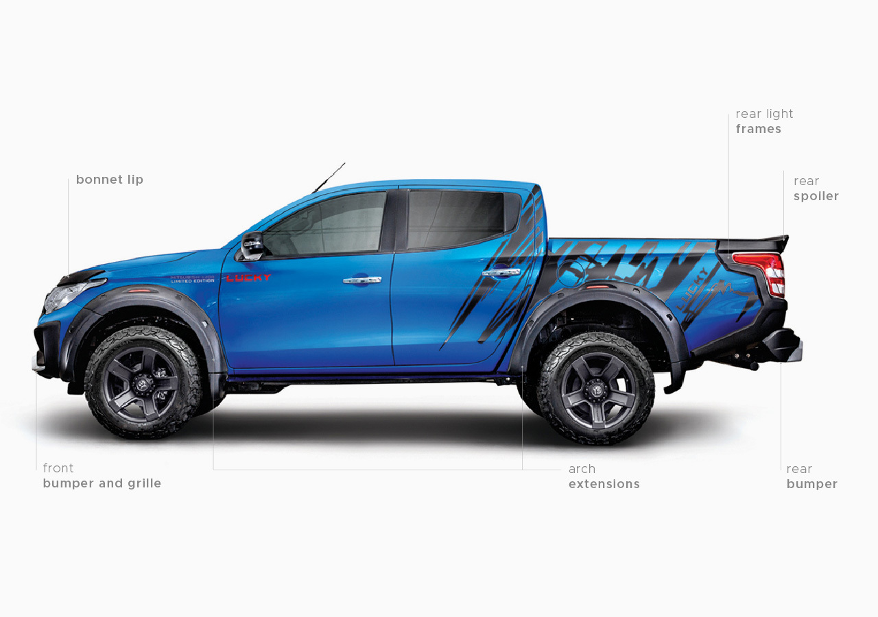 Carlex Design body kit for Mitsubishi L200 LUCKY new style