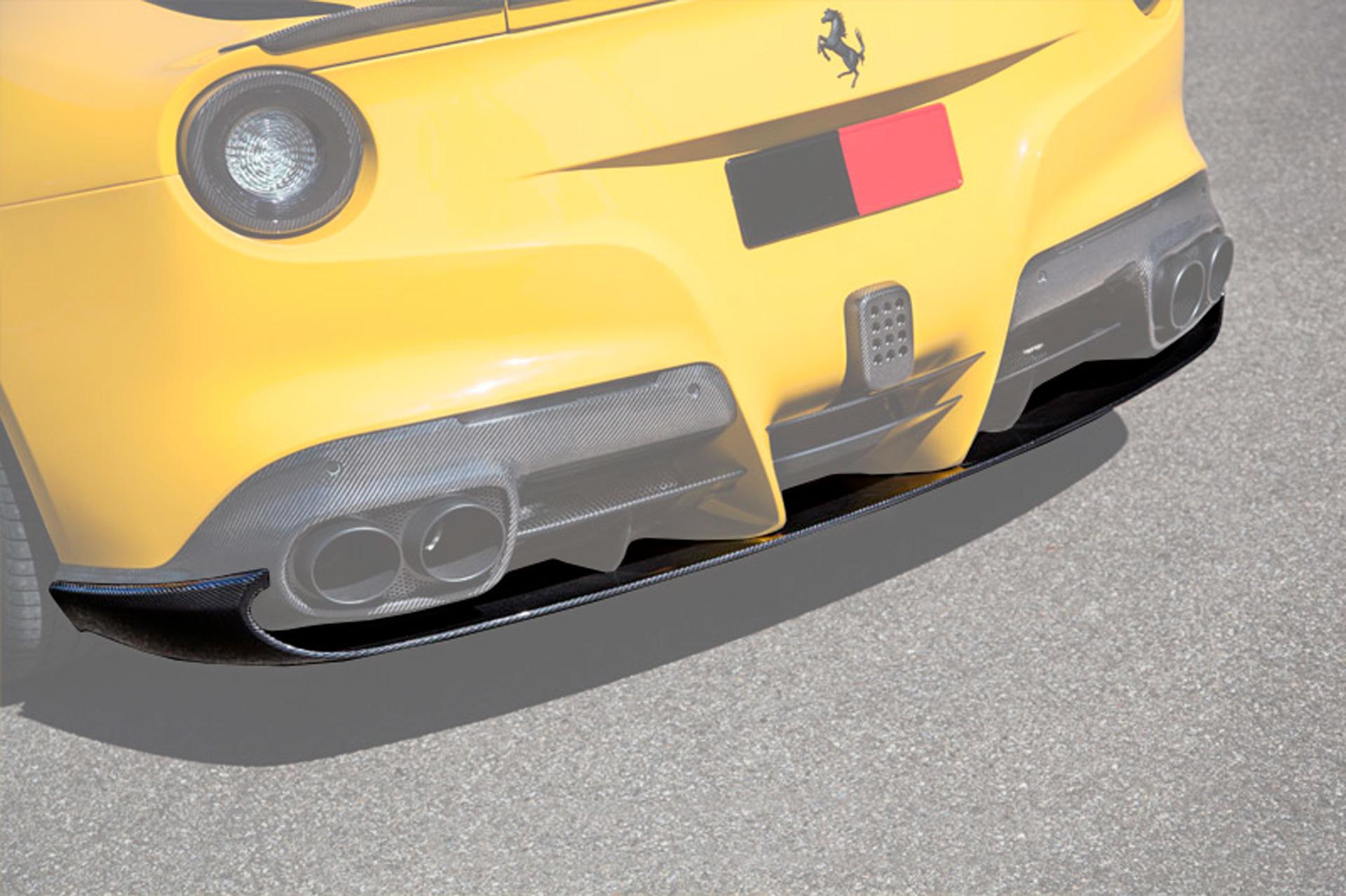 Hodoor Performance Carbon fiber bottom diffuser Novitec Style for Ferrari F12 Berlinetta