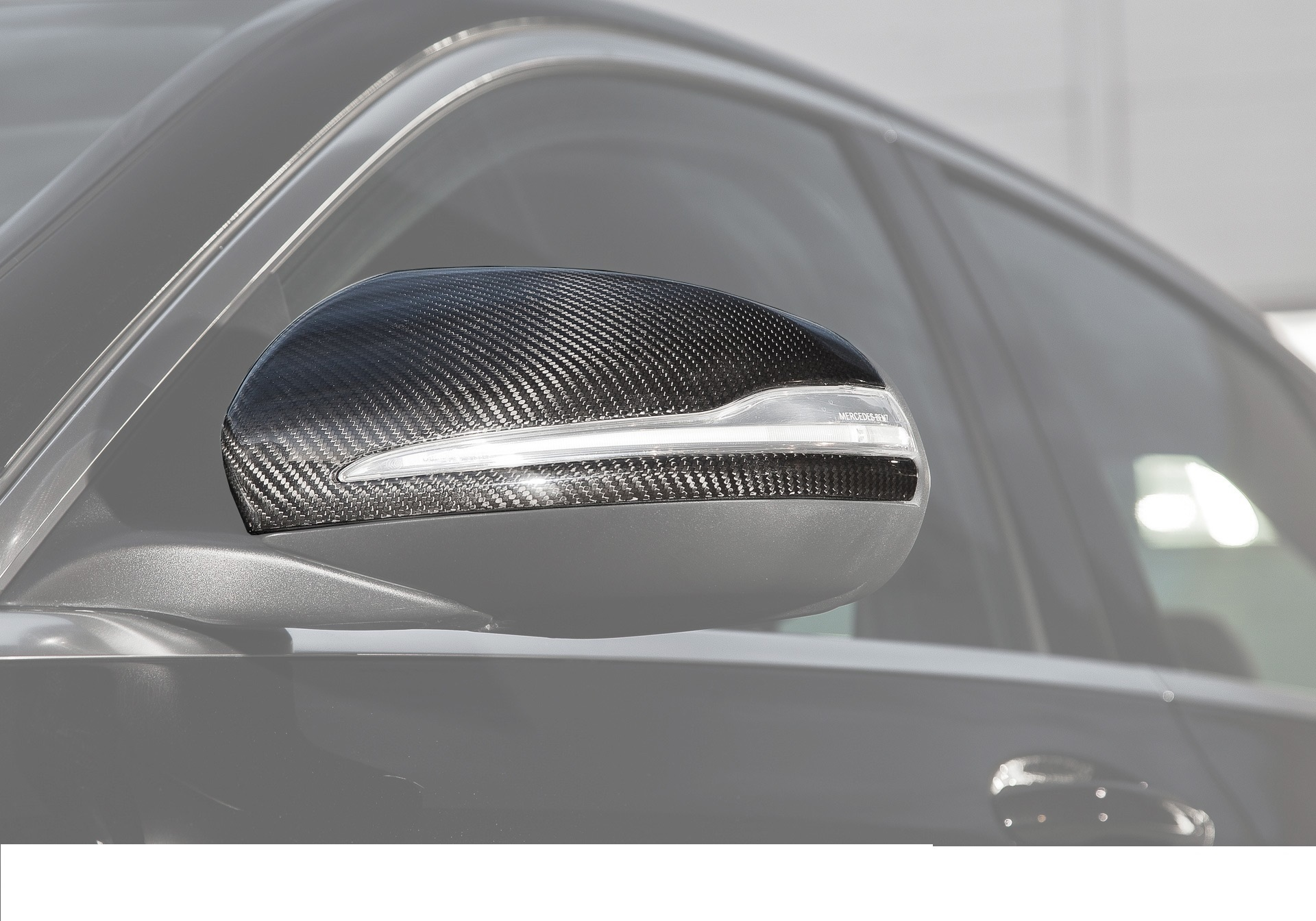 Hodoor Performance Carbon fiber mirror linings 63 AMG Brabus Style for Mercedes C-class W205