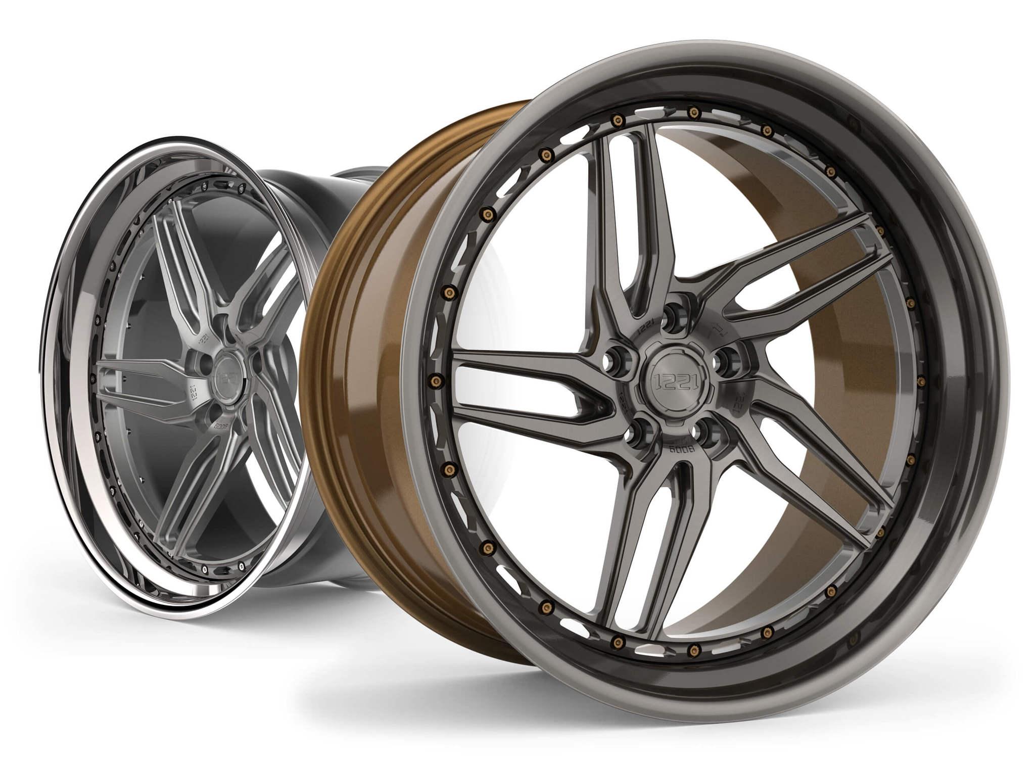 1221  Wheels  R6008 AP3X APEX3.0 forged wheels