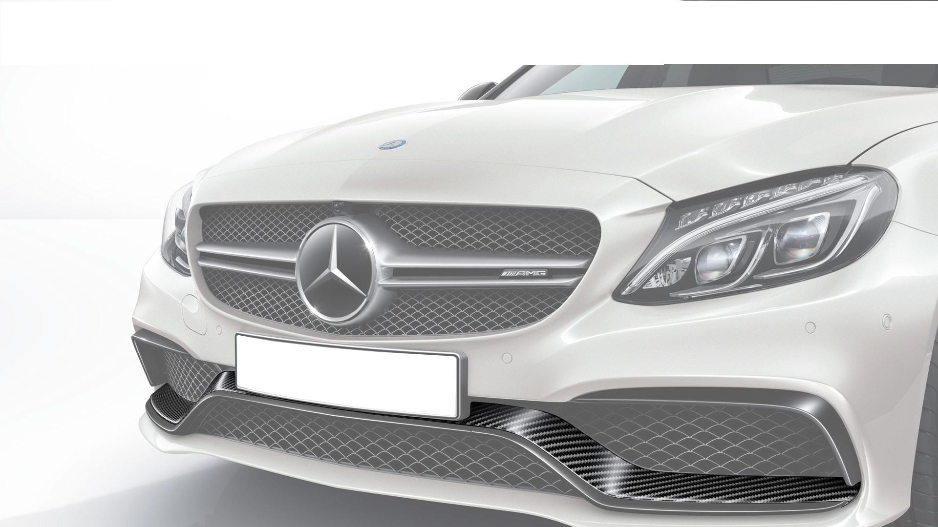 Hodoor Performance Carbon fiber front bumper spoiler AMG Style for Mercedes C-class W205