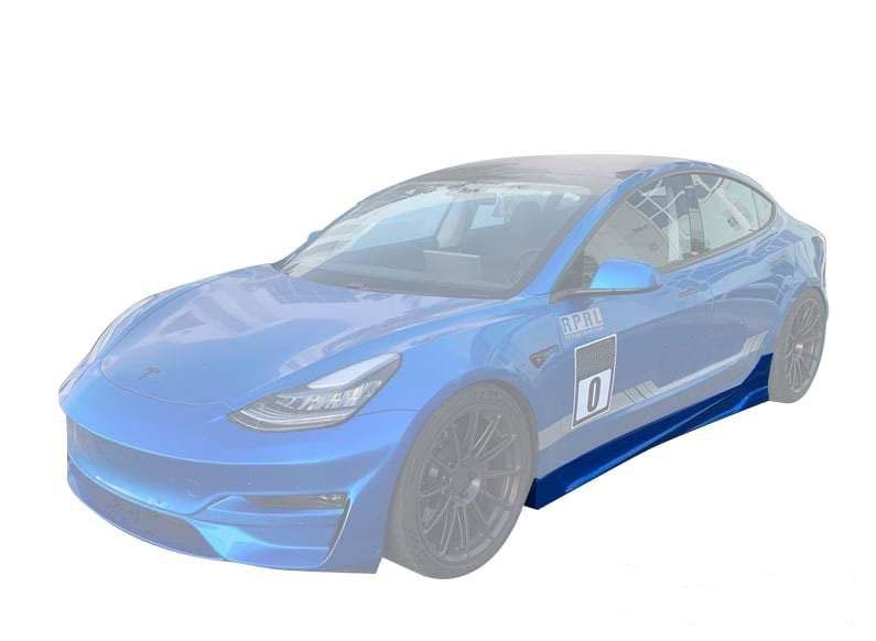 Unplugged Performance Ascension Side Skirt Set for Tesla Model 3 new model