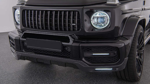 Carbon fiber front bumper trim for Mercedes G63 AMG W464A 2019-2020