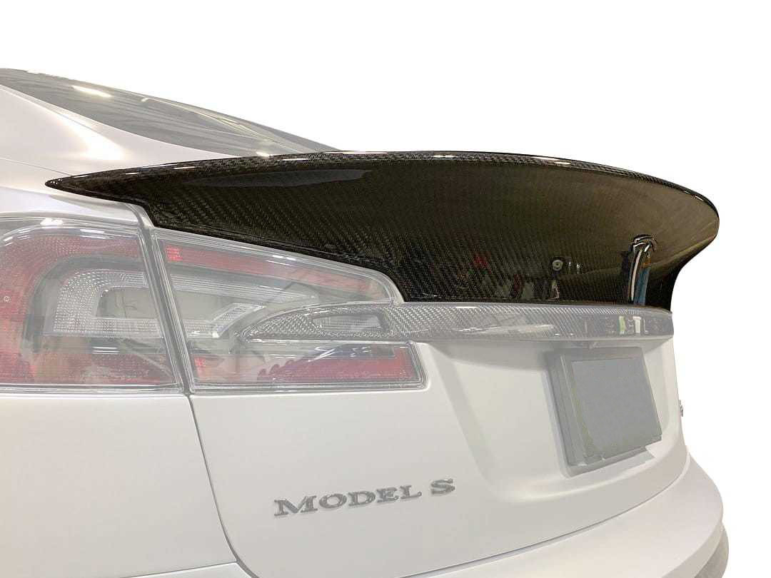 Unplugged Performance Long Tail Trunk Spoiler for Tesla Model S new model