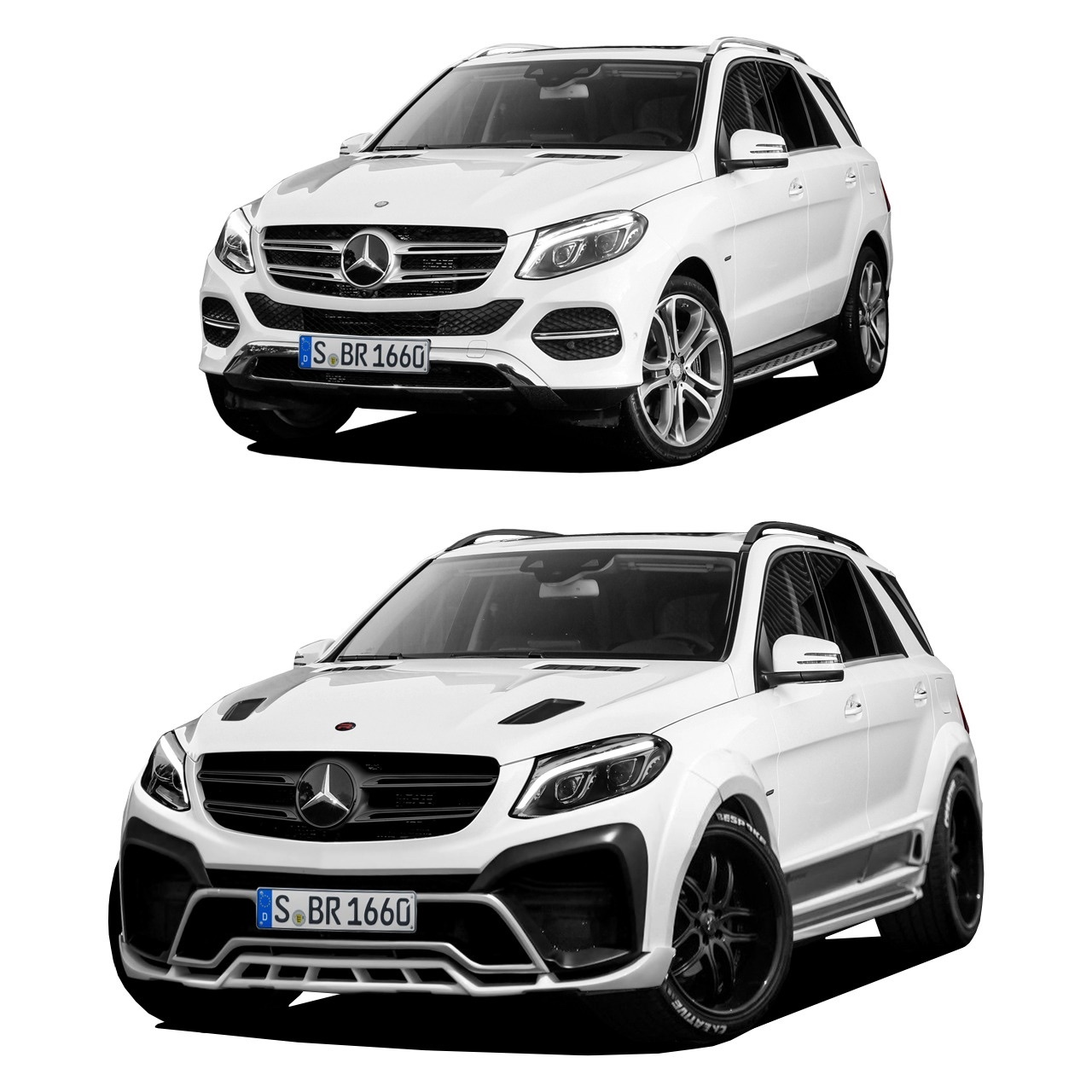 Renegade body kit for Mercedes-Benz GLE carbon