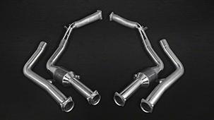Capristo exhaust system for Mercedes G63 W 463 5.5 L V8 BiTurbo AMG