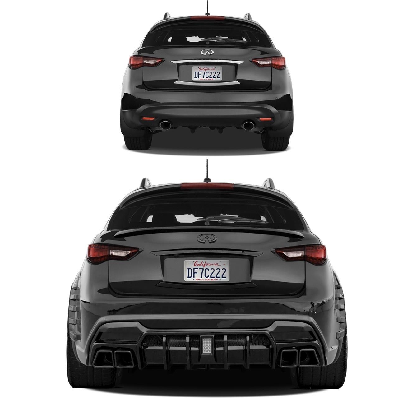 Renegade body kit for Infiniti QX70 (FX S51) carbon