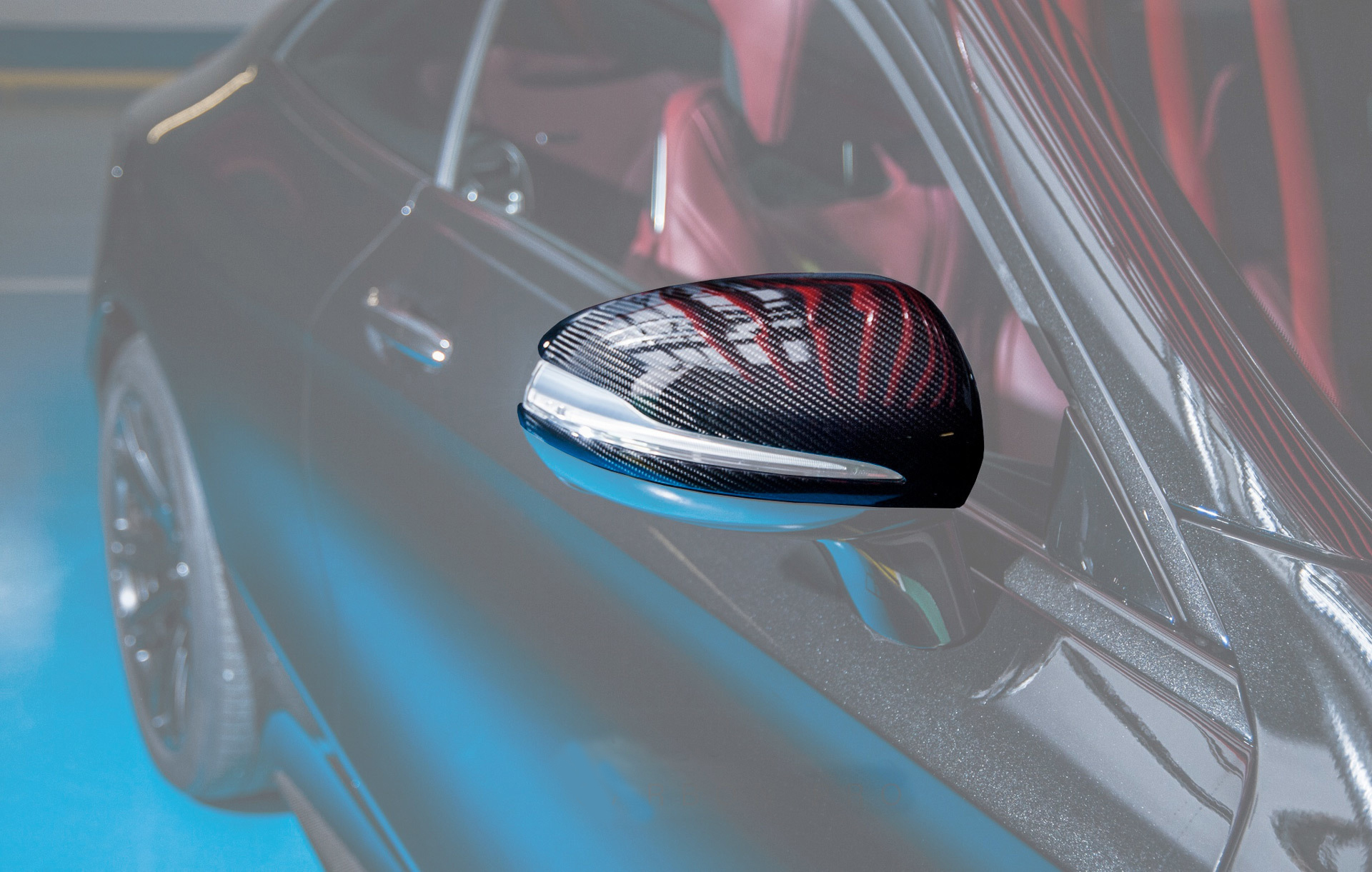 Hodoor Performance Carbon fiber covers for mirrors 63 AMG Style for Mercedes S-class W222