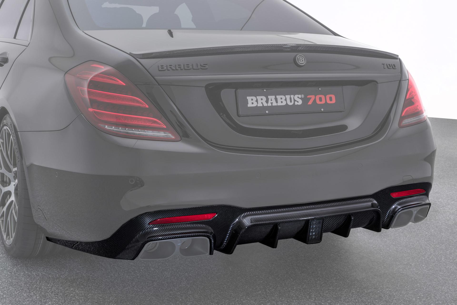 Hodoor Performance Carbon fiber rear bumper diffuser for Mercedes S63 AMG W222