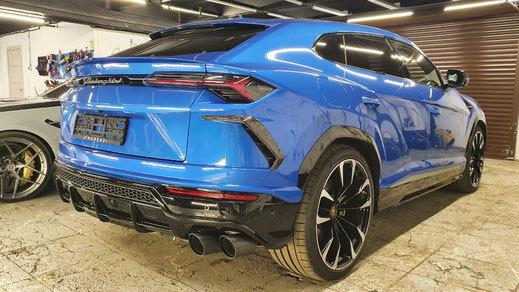 Hodoor Performance Carbon fiber rear bumper pads Corsa for Lamborghini Urus new model
