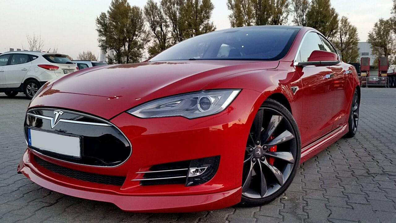 Unplugged Performance Front Spoiler and Diffuser System for Tesla Model S carbon fiber