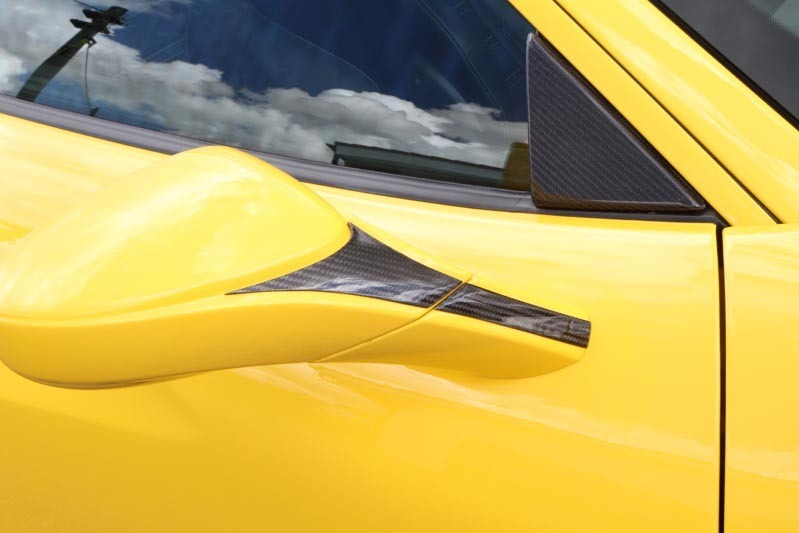 Hodoor Performance Carbon fiber mirror linings Novitec Style for Ferrari 488 GTB