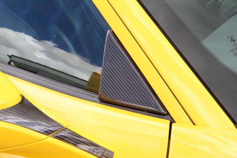 Hodoor Performance Carbon fiber triangular side window cover Novitec Style for Ferrari 488 GTB