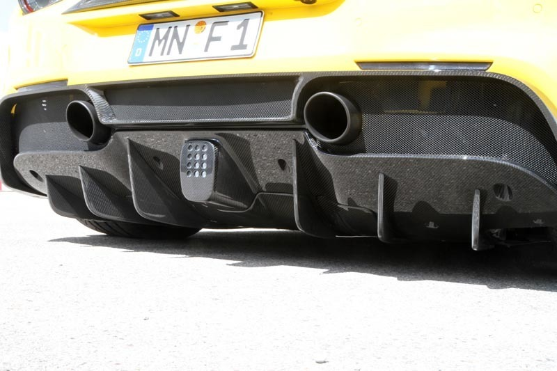 Hodoor Performance Carbon fiber air opening cover for Novitec Style rear diffuser for Ferrari 488 GTB