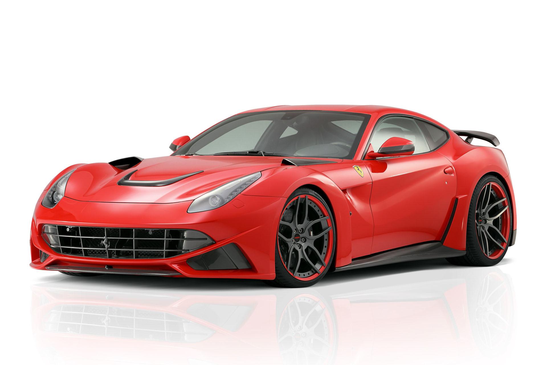 Hodoor Performance Carbon fiber Edging of the radiator grille for Parking sensors Novitec Style for Ferrari F12 Berlinetta