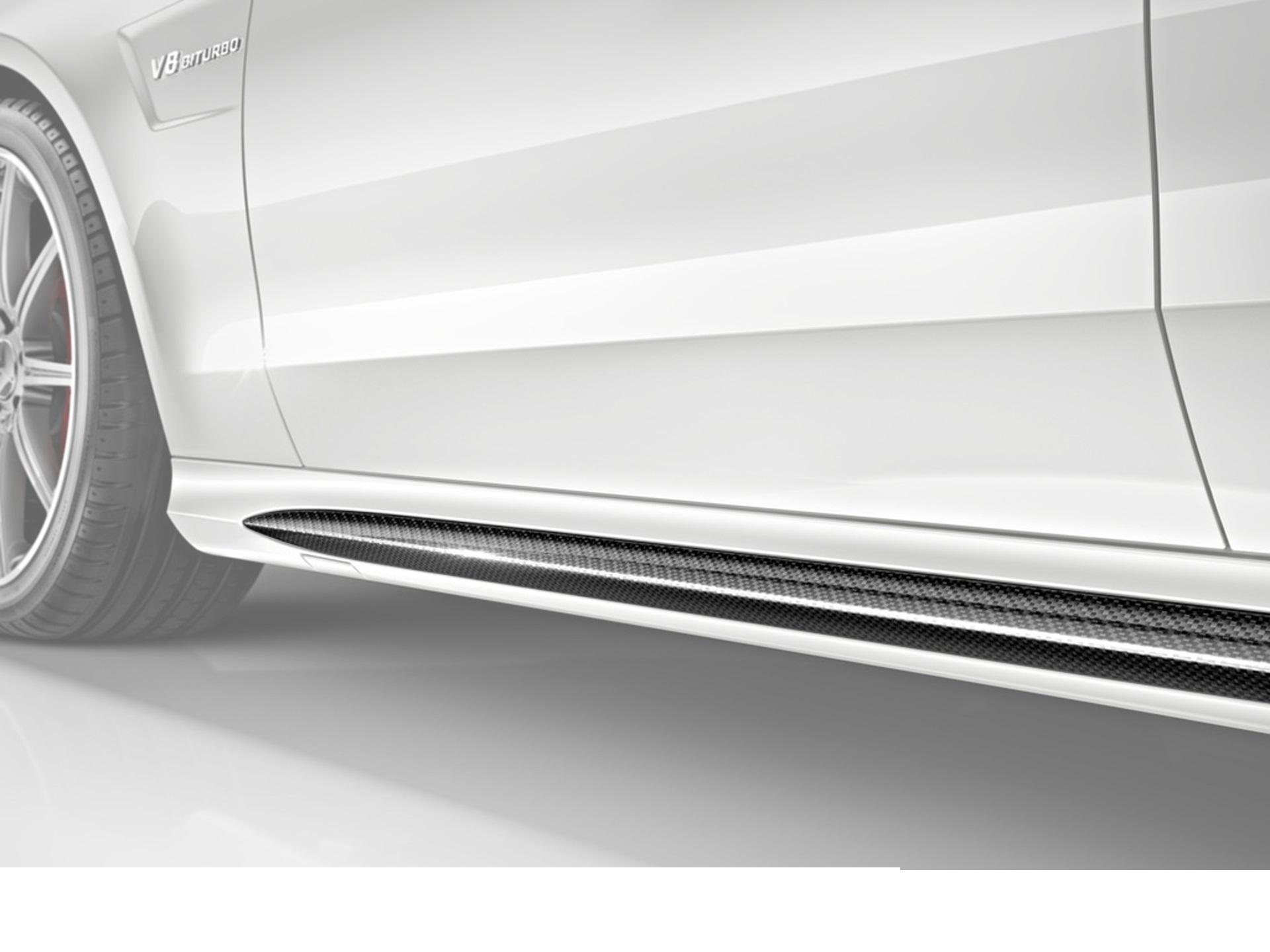 Hodoor Performance Carbon fiber door sills Brabus Style for Mercedes E-class W212