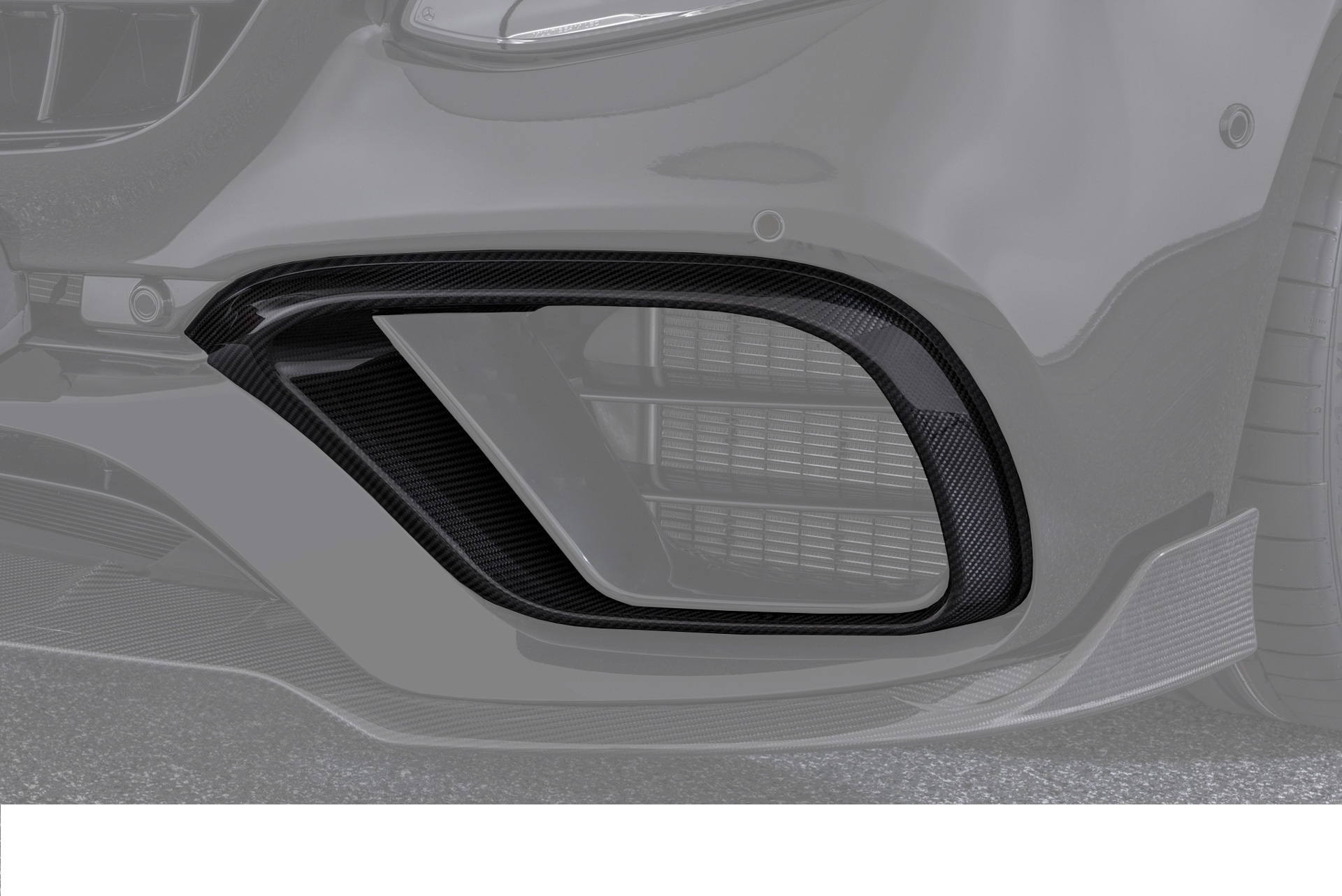 Hodoor Performance Carbon fiber inserts in the air intakes 63 AMG Brabus Style for Mercedes E-class W213