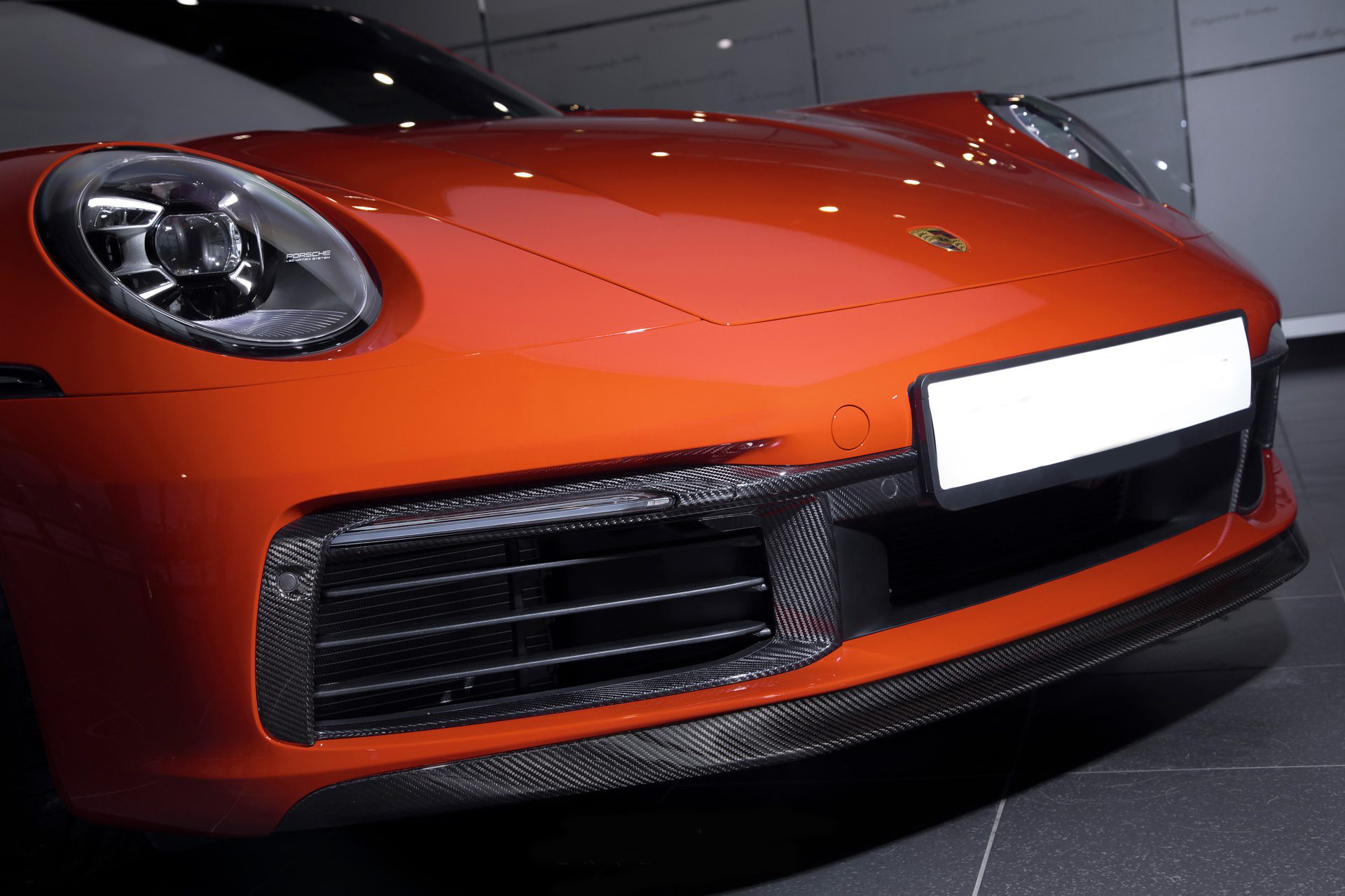 Hodoor Performance Carbon fiber Front Spoiler for Porsche 911