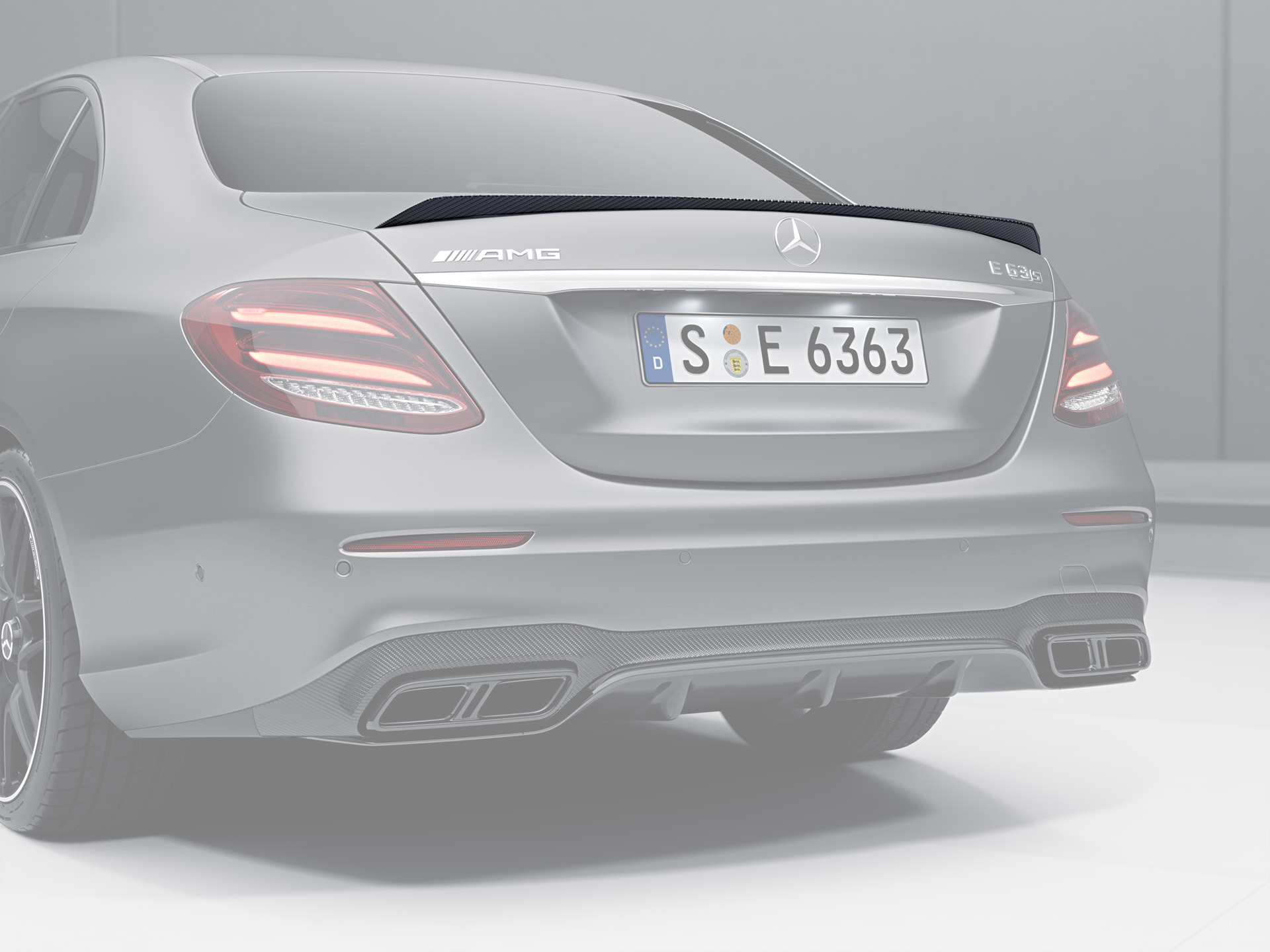 Hodoor Performance Carbon fiber trunk spoiler 63 AMG Style for Mercedes E-class W213